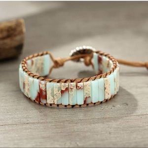 BoHo Mixed Crystal Wrap Bracelet